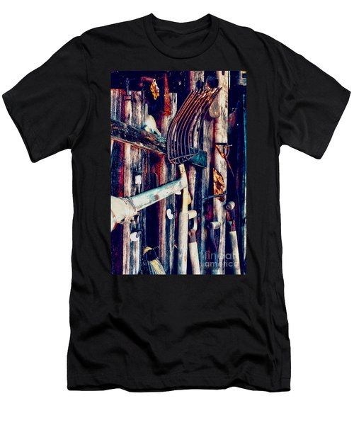 Men's T-Shirt (Slim Fit) featuring the photograph Handles And The Pitchfork by Lesa Fine