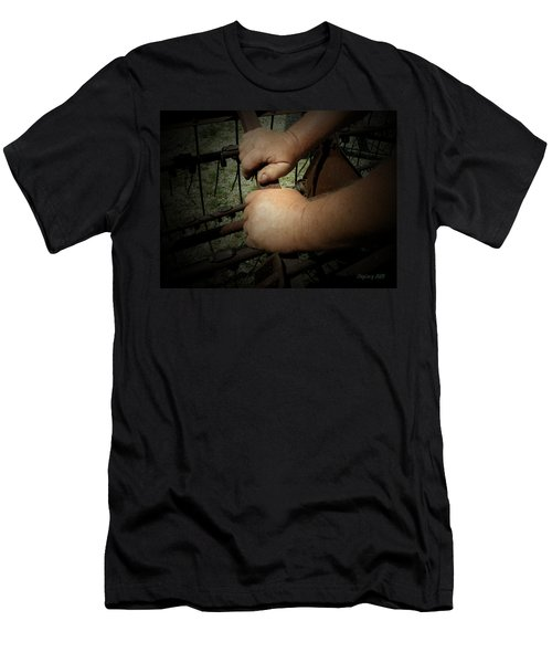 Men's T-Shirt (Slim Fit) featuring the photograph Hands That Feed The World by Cynthia Lassiter