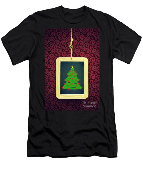 Hanged Xmas Slate - Tree Men's T-Shirt (Athletic Fit)