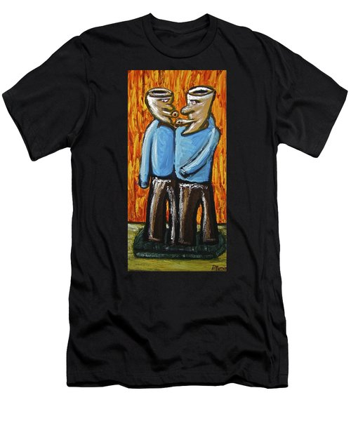 Happiness 12-008 Men's T-Shirt (Slim Fit) by Mario Perron