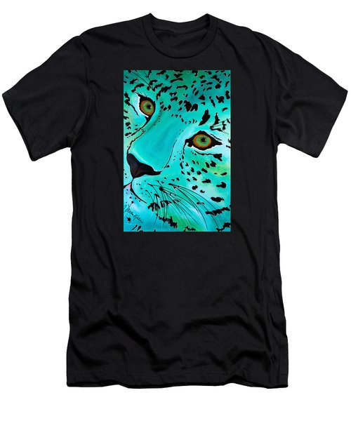 Men's T-Shirt (Athletic Fit) featuring the painting Happy Cat by Dede Koll
