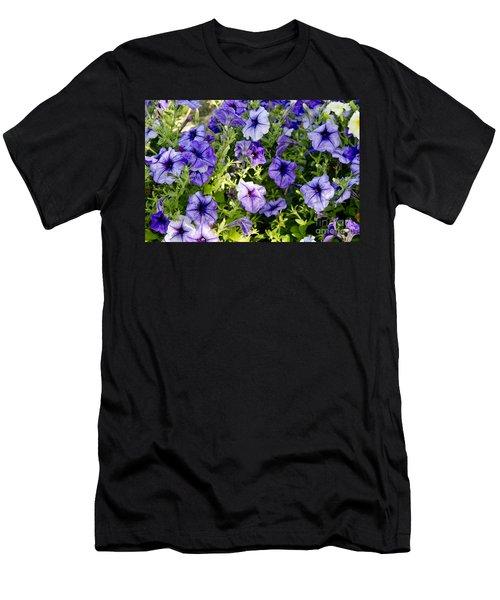 Happy Flowers Men's T-Shirt (Slim Fit) by Wilma  Birdwell