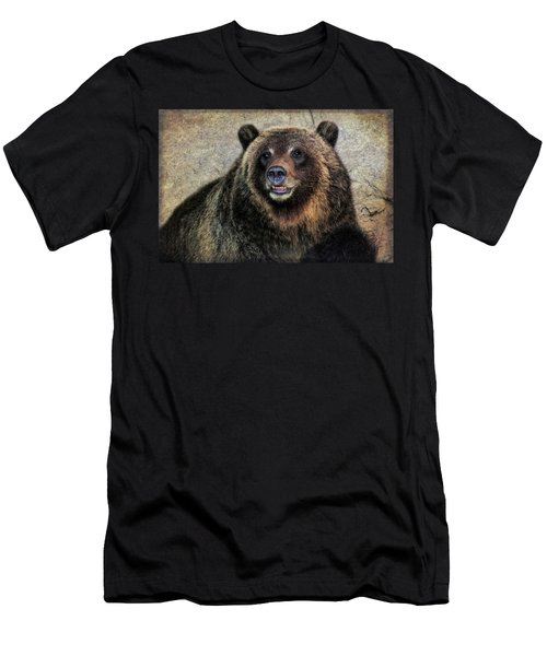 Happy Grizzly Bear Men's T-Shirt (Athletic Fit)