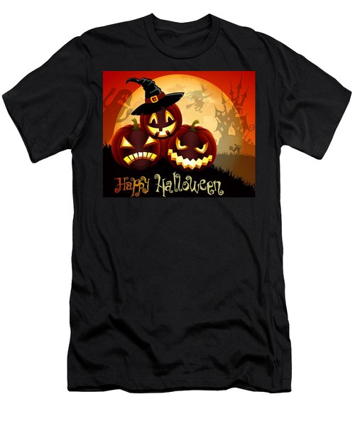 Men's T-Shirt (Slim Fit) featuring the painting Happy Halloween by Gianfranco Weiss