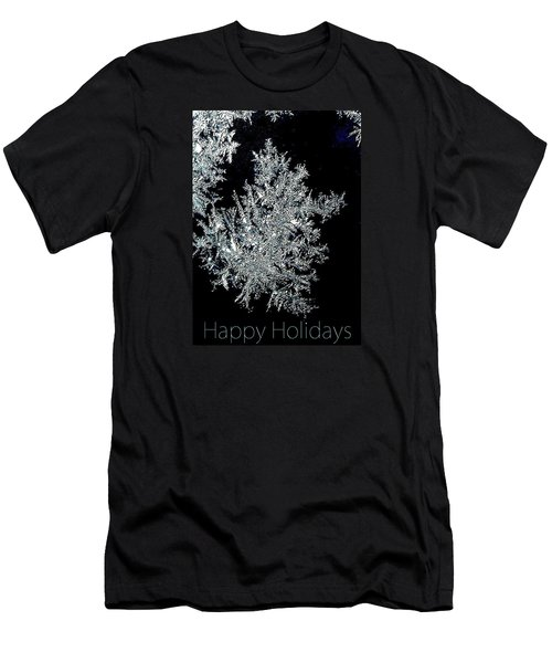 Men's T-Shirt (Slim Fit) featuring the photograph Happy Holidays by Jodie Marie Anne Richardson Traugott          aka jm-ART