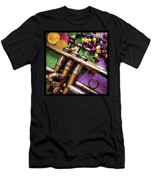 Happy Mardi Gras Men's T-Shirt (Slim Fit) by KG Thienemann