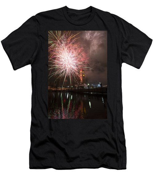 Happy New Year 2014 B Men's T-Shirt (Athletic Fit)