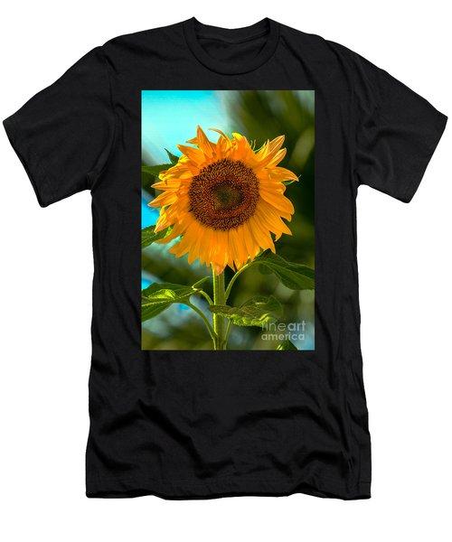 Happy Sunflower Men's T-Shirt (Athletic Fit)
