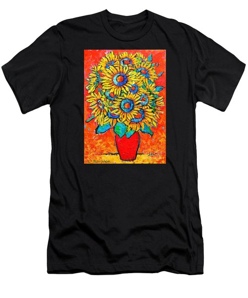 Happy Sunflowers Men's T-Shirt (Athletic Fit)