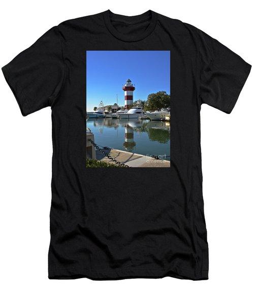 Harbor Town Lighthouse Men's T-Shirt (Athletic Fit)
