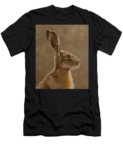 Hare Portrait I Men's T-Shirt (Athletic Fit)
