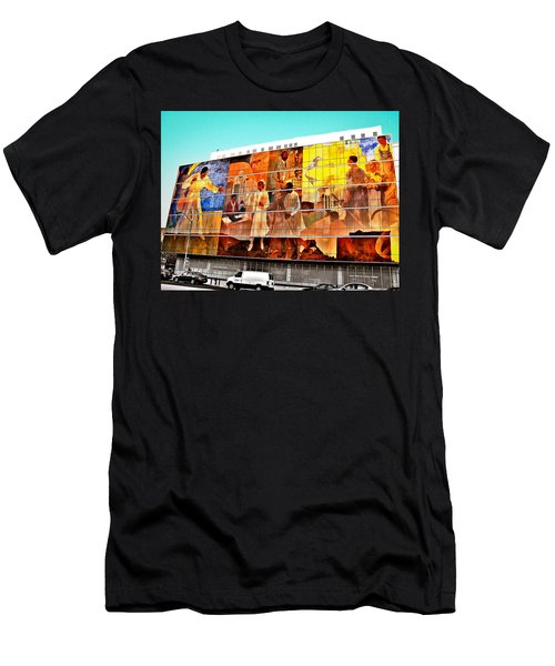 Harlem Hospital Mural Men's T-Shirt (Slim Fit) by Terry Wallace