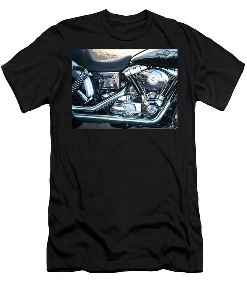 Harley Black And Silver Sideview Men's T-Shirt (Athletic Fit)
