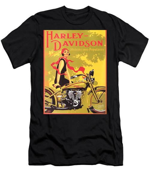 Harley Davidson 1927 Poster Men's T-Shirt (Athletic Fit)