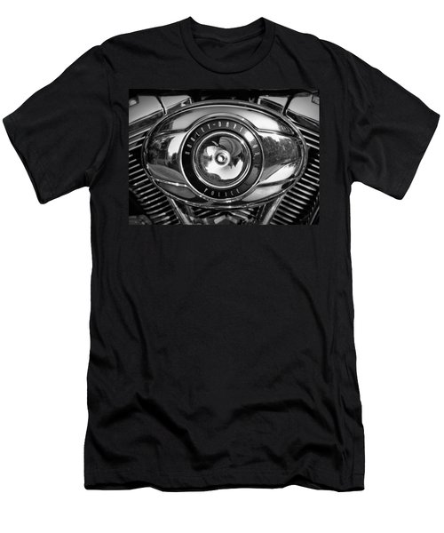 Harley-davidson Police B And W Men's T-Shirt (Athletic Fit)