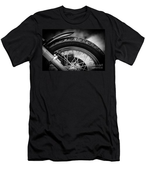 Men's T-Shirt (Slim Fit) featuring the photograph Harley Davidson Tire by Carsten Reisinger