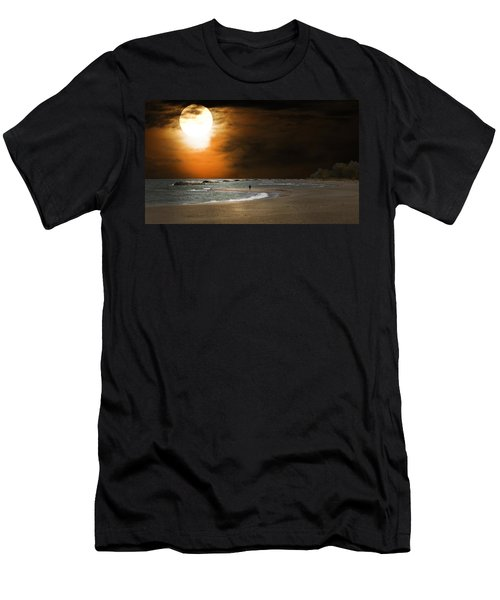 Harvest Moon On The Beach Men's T-Shirt (Athletic Fit)