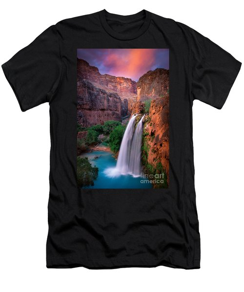 Havasu Falls Men's T-Shirt (Slim Fit) by Inge Johnsson