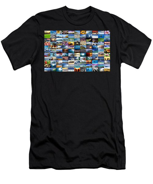 One Hawaiian Mixed Plate Men's T-Shirt (Athletic Fit)