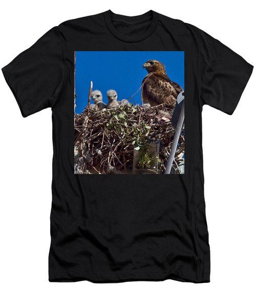 Men's T-Shirt (Slim Fit) featuring the photograph Hawk Babies by Brian Williamson