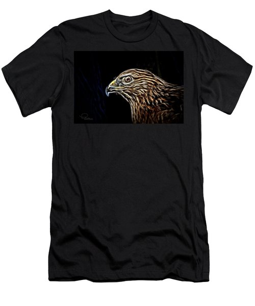 Men's T-Shirt (Slim Fit) featuring the photograph Hawk by Ludwig Keck