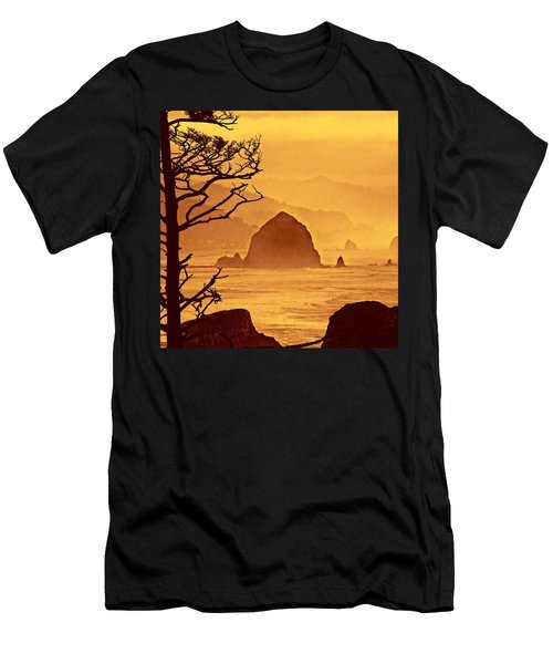Men's T-Shirt (Slim Fit) featuring the photograph Haystack Burnt Sienna by Wendy McKennon