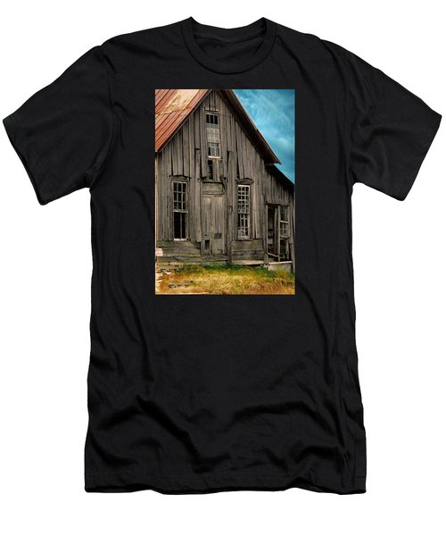 Shack Of Elora Tn  Men's T-Shirt (Slim Fit) by Lesa Fine