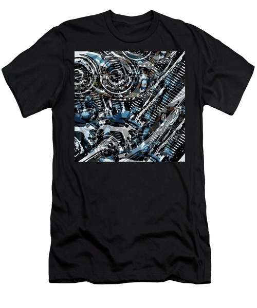 Abstract V-twin Men's T-Shirt (Athletic Fit)