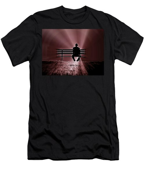 He Spoke Light Into The Darkness Men's T-Shirt (Slim Fit) by Micki Findlay