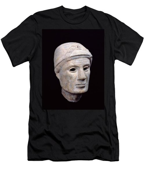 Head Of An Old Woman, From Cerveteri Clay Men's T-Shirt (Athletic Fit)
