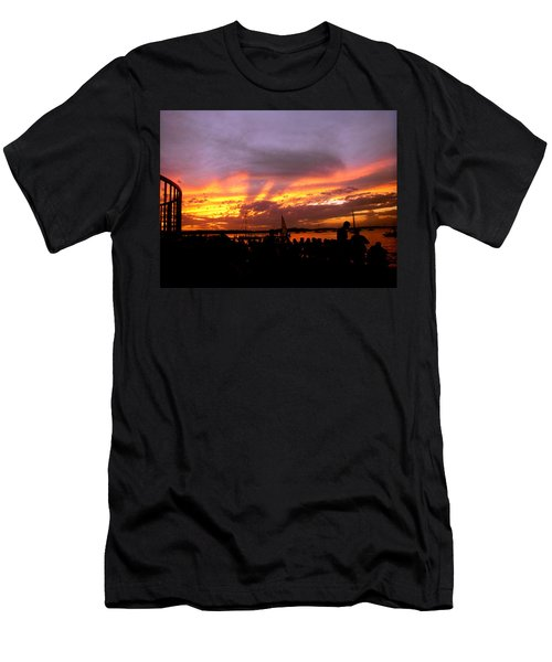 Headlights Of Sunset Men's T-Shirt (Athletic Fit)
