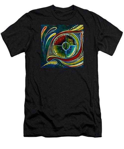 Men's T-Shirt (Slim Fit) featuring the painting Healer Spirit Eye by Deborha Kerr