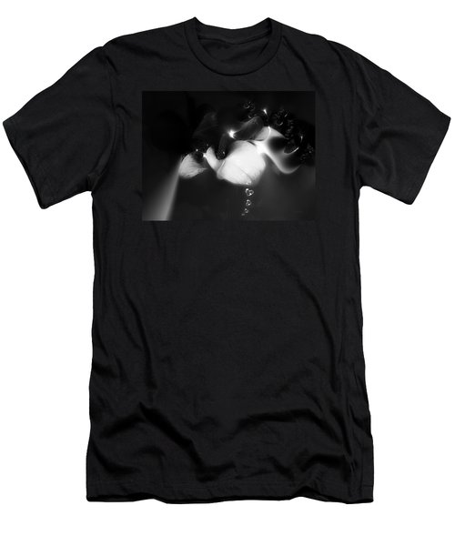 Men's T-Shirt (Slim Fit) featuring the mixed media Heart Drops by Gabriella Weninger - David