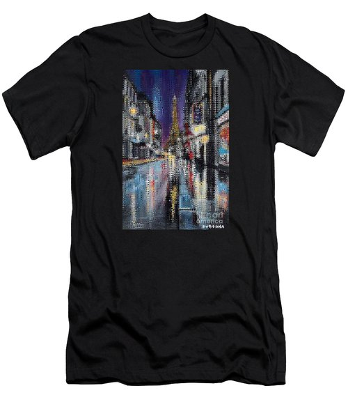 Heart Of Paris Men's T-Shirt (Athletic Fit)