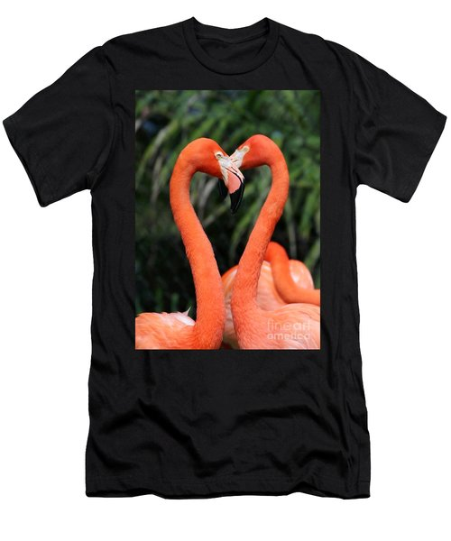 Heart To Heart Flamingo's Men's T-Shirt (Athletic Fit)