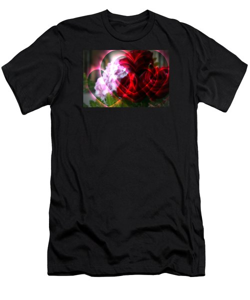 Hearts A Fire Men's T-Shirt (Slim Fit) by Kay Novy