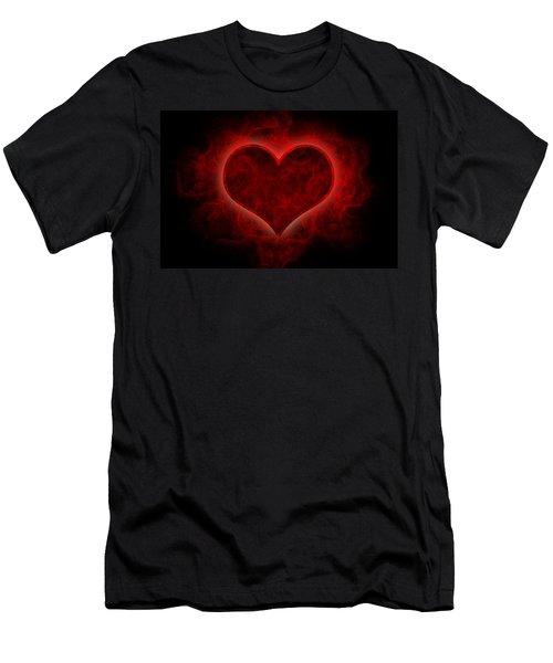 Heart's Afire Men's T-Shirt (Athletic Fit)