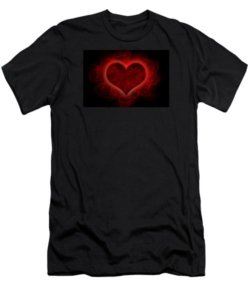 Heart's Afire Men's T-Shirt (Athletic Fit)