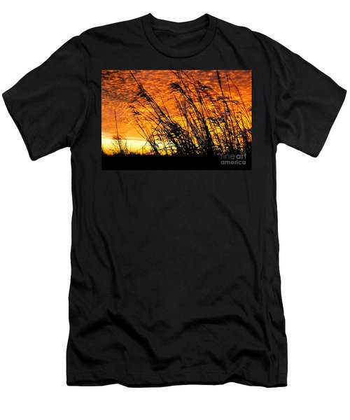 Sunset Heaven And Hell In Beaumont Texas Men's T-Shirt (Slim Fit) by Michael Hoard