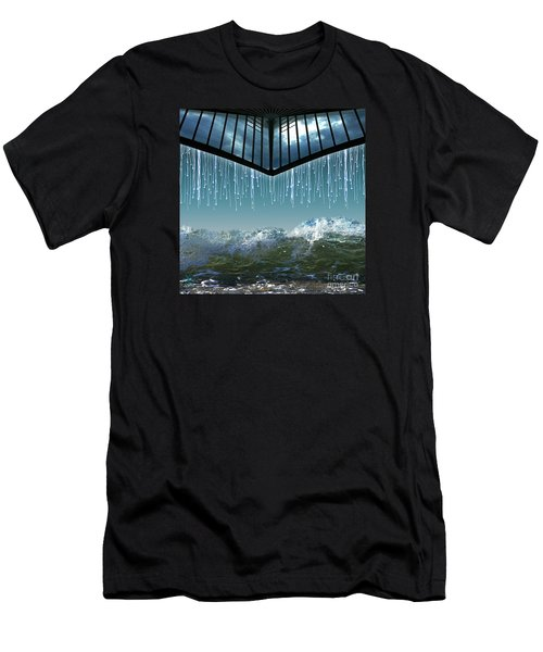 Heavens Crying Men's T-Shirt (Slim Fit) by Rosa Cobos