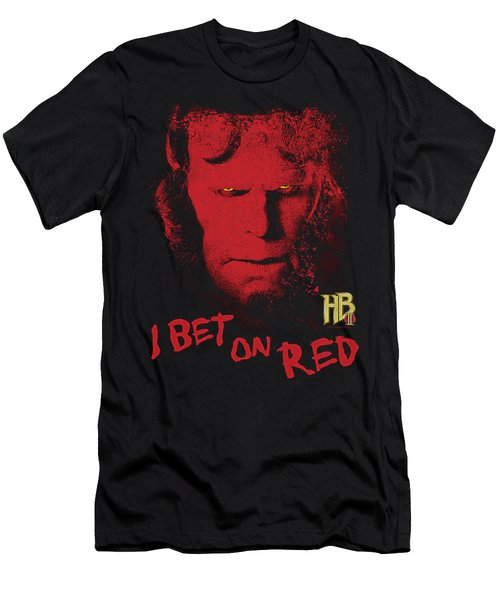 Hellboy II - I Bet On Red Men's T-Shirt (Athletic Fit)