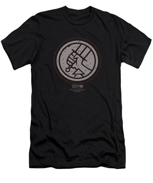 Hellboy II - Mignola Style Logo Men's T-Shirt (Athletic Fit)