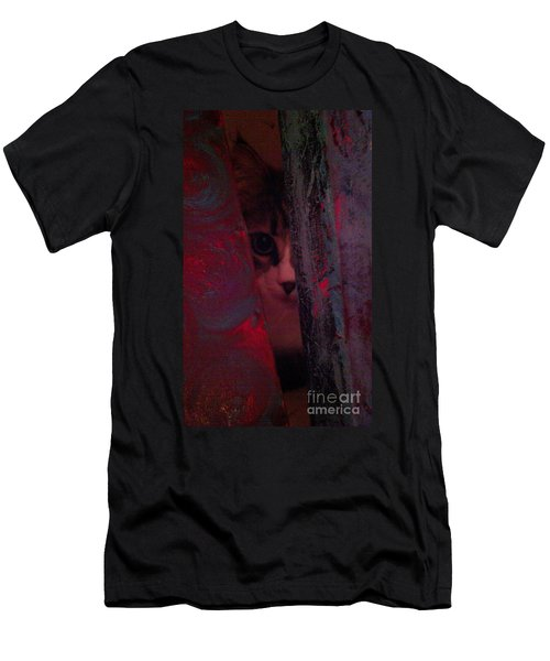 Men's T-Shirt (Slim Fit) featuring the photograph Helping In The Art Studio by Jacqueline McReynolds