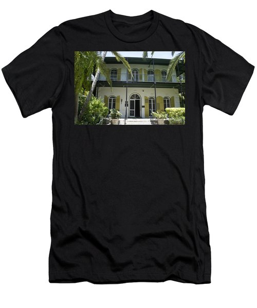 Hemingway's Hideaway Men's T-Shirt (Slim Fit) by Laurie Perry