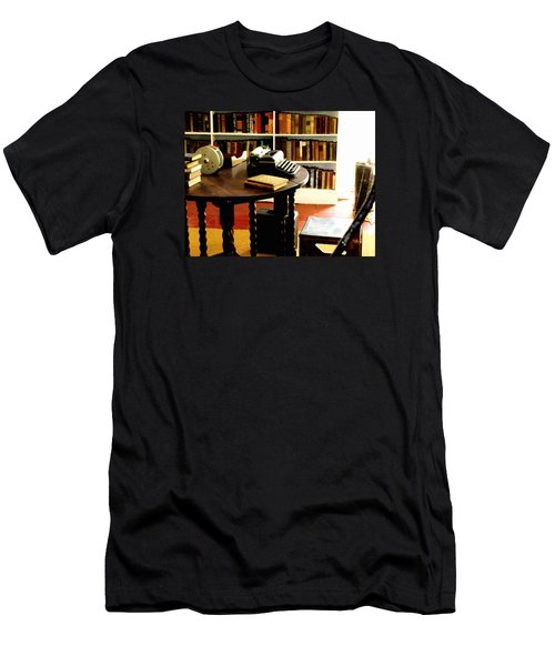 Hemingway's Studio Ernest Hemingway Key West Men's T-Shirt (Slim Fit) by Iconic Images Art Gallery David Pucciarelli