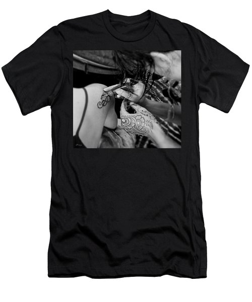 Men's T-Shirt (Slim Fit) featuring the photograph Henna Artist At Work by Jennie Breeze