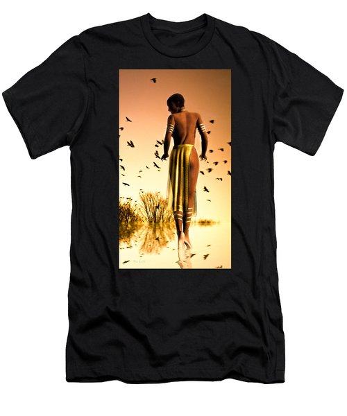Her Morning Walk Men's T-Shirt (Athletic Fit)