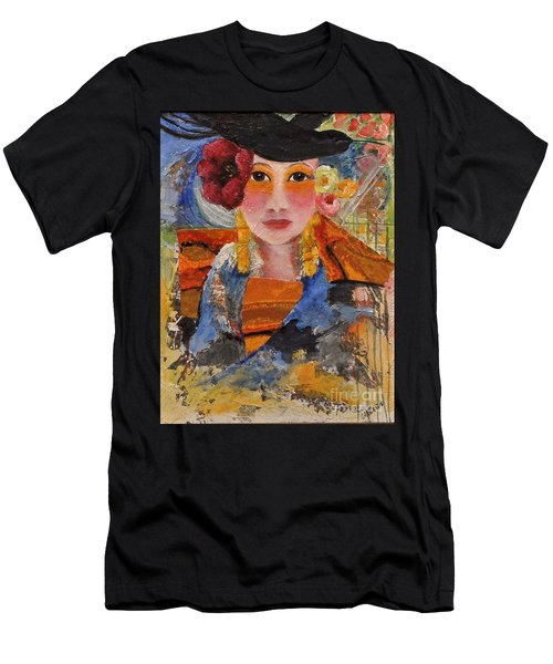 Her Red Flower Men's T-Shirt (Athletic Fit)