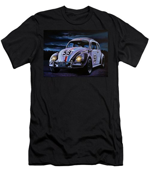 Herbie The Love Bug Painting Men's T-Shirt (Athletic Fit)
