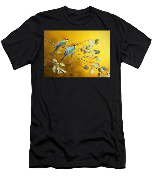Here Comes The Sun - Rainbow Bee-eaters Men's T-Shirt (Athletic Fit)
